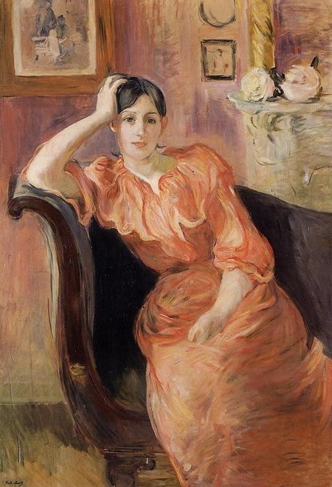 Wikioo.org - The Encyclopedia of Fine Arts - Painting, Artwork by Berthe Morisot - Portrait of Jeanne Pontillon