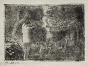 Bather and Geese