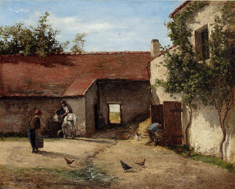 Wikioo.org - The Encyclopedia of Fine Arts - Painting, Artwork by Camille Pissarro - Farmyard