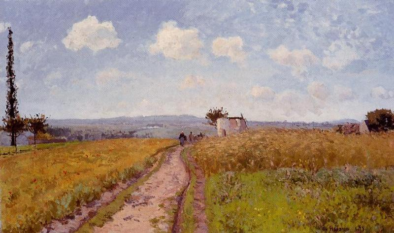 Wikioo.org - The Encyclopedia of Fine Arts - Painting, Artwork by Camille Pissarro - June Morning, View over the Hills over Pontoise