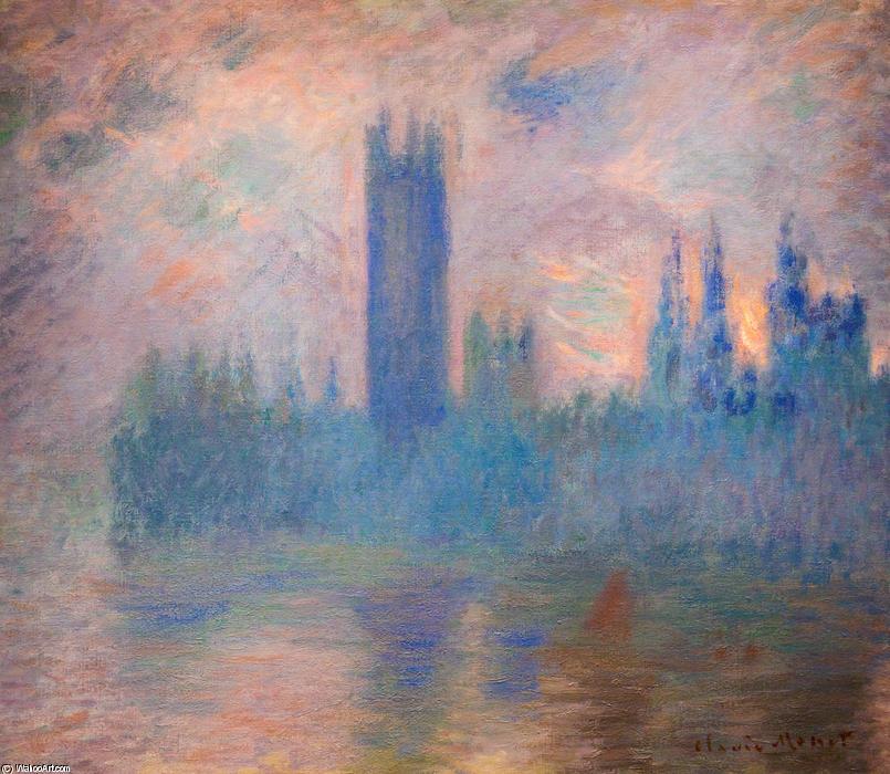 Wikioo.org - Die Enzyklopädie bildender Kunst - Malerei, Kunstwerk von Claude Monet - häuser des parlaments , Westminster