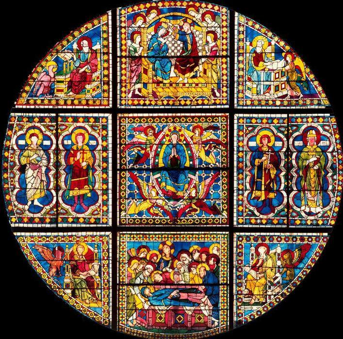 Wikioo.org - The Encyclopedia of Fine Arts - Painting, Artwork by Duccio Di Buoninsegna - Catedral de Siena. ''Muerte, Resurrección y Coronación de la Virgen''