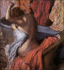 Seated Bather Drying Herself 1