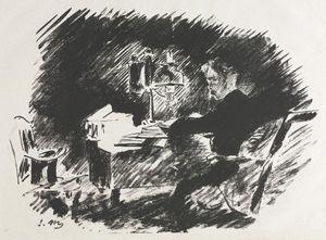 Ilustración para El cuervo de Edgar Allan Poe