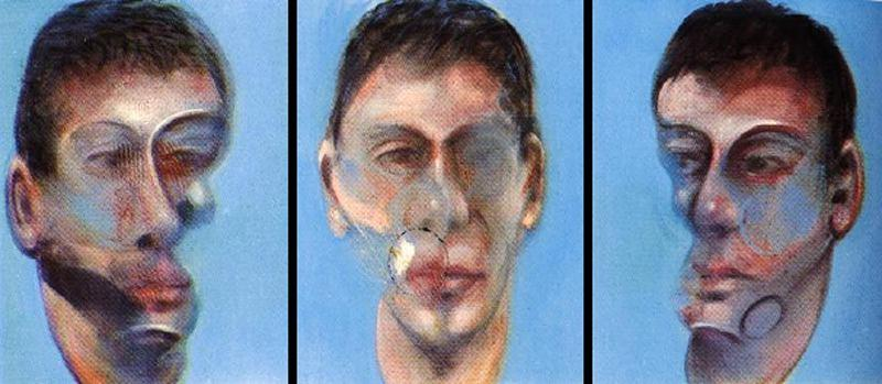 Wikioo.org - The Encyclopedia of Fine Arts - Painting, Artwork by Francis Bacon - Three Studies for a Portrait of John Edwards