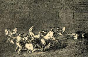 Dos grupos de picadores arrollados de seguida por un solo toro