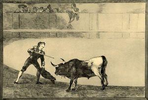 Pedro Romero matando á toro parado