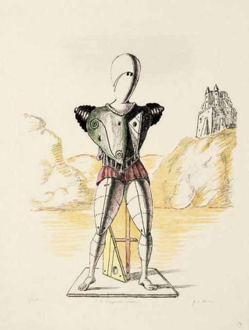 WikiOO.org - Encyclopedia of Fine Arts - Festés, Grafika Giorgio De Chirico - Il risveglio del Torovatore
