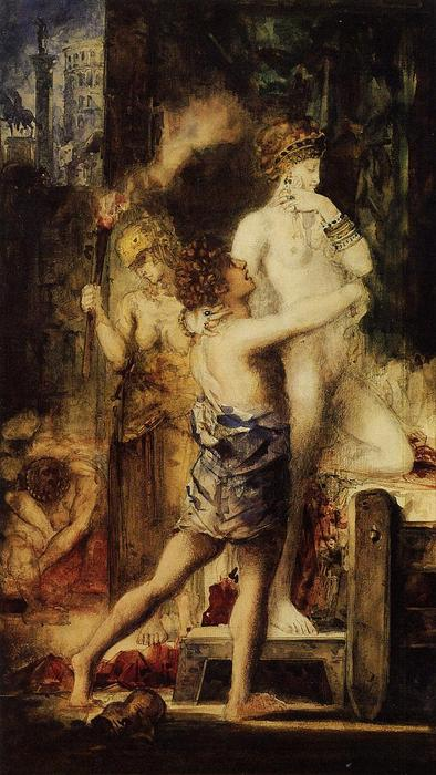 Wikioo.org - The Encyclopedia of Fine Arts - Painting, Artwork by Gustave Moreau - Messalina