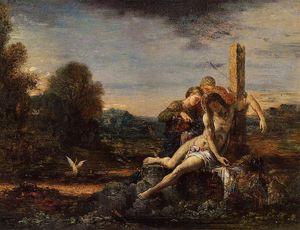 Saint Sebastian being Tended by Saintly Women