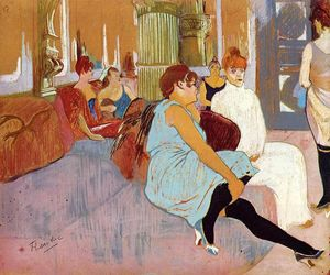 The Salon in the Rue des Moulins 1