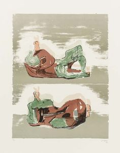Two Reclining Figures 8