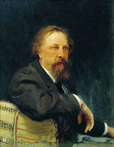 Portrait of the writer Aleksey Konstantinovich Tolstoy