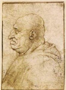 Caricature of a Bald Old Man