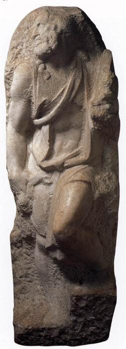Wikioo.org - The Encyclopedia of Fine Arts - Painting, Artwork by Michelangelo Buonarroti - St Matthew
