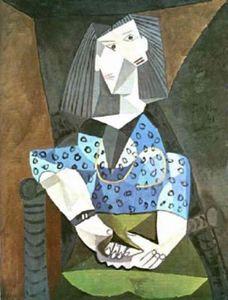 Mujer de azul 1