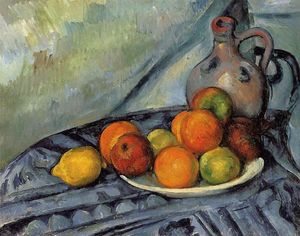 Fruit and Jug on a Table