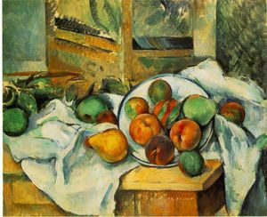 Table, Napkin and Fruit
