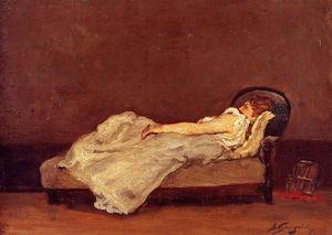 Mette Asleep on a Sova