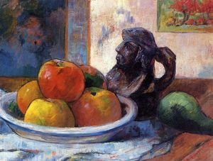 Still Life with Apples, Pear and Ceramic Portrait Jug