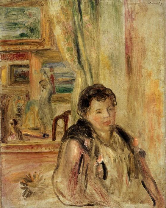 Wikioo.org - The Encyclopedia of Fine Arts - Painting, Artwork by Pierre-Auguste Renoir - Woman in an Interior 1