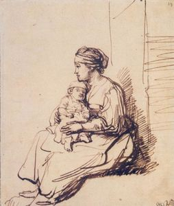 A Woman with a Little Child on her Lap