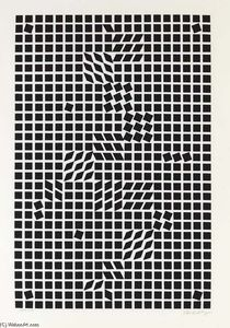 Tlinko (black on white), from Kassak Vasarely