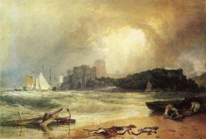 Pembroke Caselt, South Wales. Thunder Storm Approaching