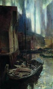 Hammerfest. The Nothern Lights.