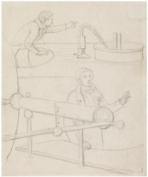 Wikioo.org – L'Encyclopédie des Beaux Arts - Peinture, Oeuvre de Daniel Maclise - croquis des deux hommes