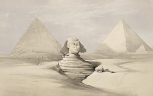The Great Sphinx. Pyramids Of Gizeh