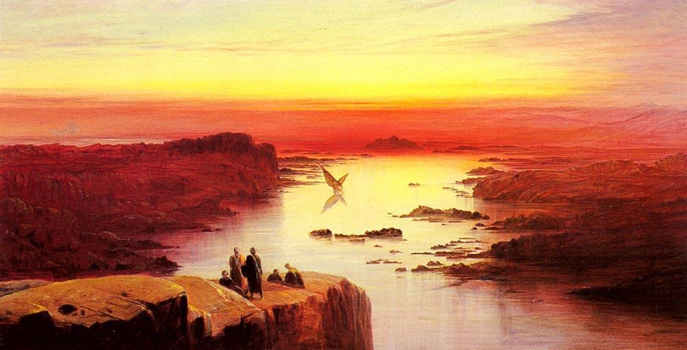 WikiOO.org - Enciclopedia of Fine Arts - Pictura, lucrări de artă Edward Lear - A View Of The Nile Above Aswan