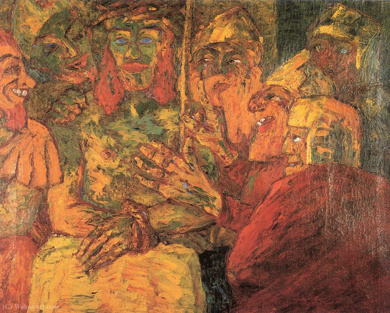 WikiOO.org - Encyclopedia of Fine Arts - Målning, konstverk Emile Nolde - The Mocking of Christ
