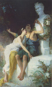 Bacchantie Frolic before a Herm of a Satyr