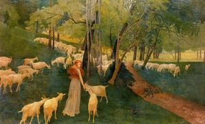 The Caprices. Wing chairs and goats. Undergrowth