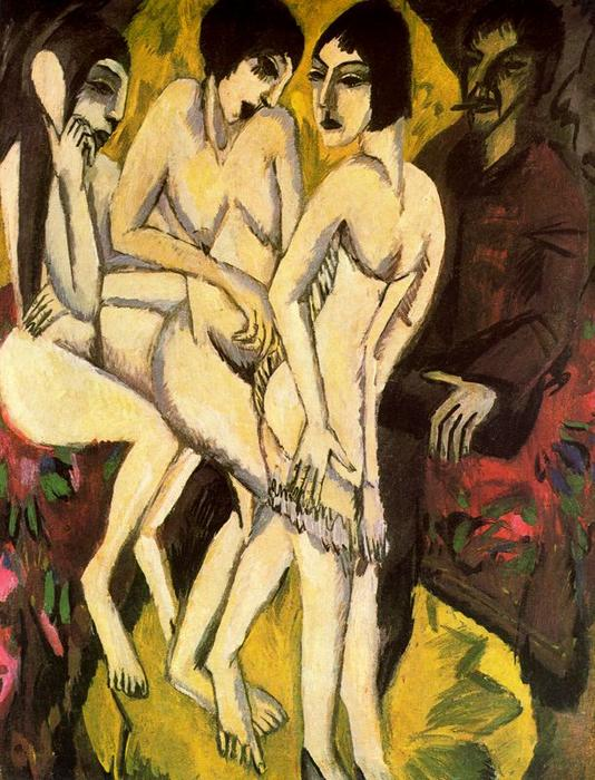 Wikioo.org - The Encyclopedia of Fine Arts - Painting, Artwork by Ernst Ludwig Kirchner - The Judgement of Paris