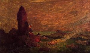 Le Croisic, Girls at the Foot of a Standing Stone
