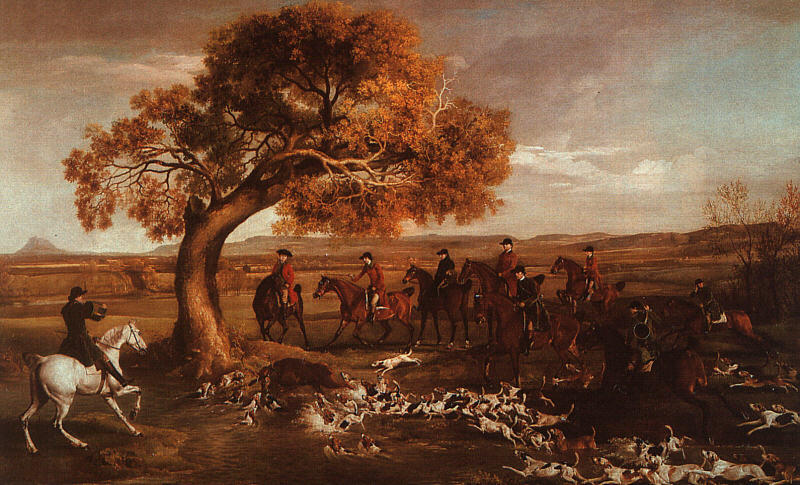Wikioo.org - The Encyclopedia of Fine Arts - Painting, Artwork by George Stubbs - The Grosvenor Hunt
