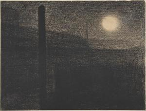 Courbevoie. Factories by Moonlight