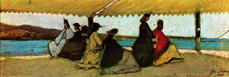 Wikioo.org - The Encyclopedia of Fine Arts - Painting, Artwork by Giovanni Fattori - The round palmeri
