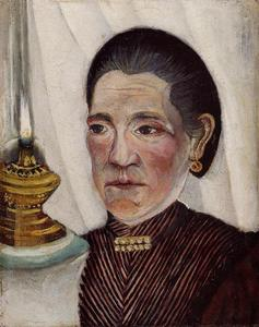 Portrait of the Artist's Second Wife with a Lamp