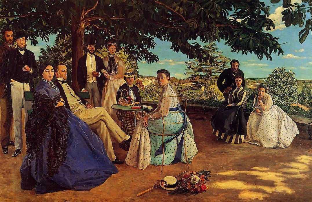 Wikioo.org - The Encyclopedia of Fine Arts - Painting, Artwork by Jean Frederic Bazille - The Family Gathering