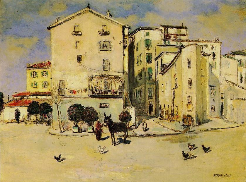 WikiOO.org - Енциклопедия за изящни изкуства - Живопис, Произведения на изкуството Jean-François Raffaelli - View of Menton