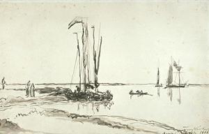 Boats at the mouth of the Scheldt