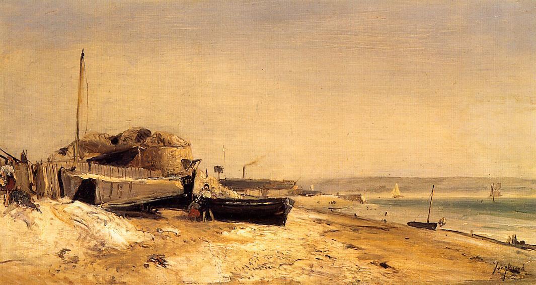 Wikioo.org - The Encyclopedia of Fine Arts - Painting, Artwork by Johan Barthold Jongkind - Sainte-Adresse 1