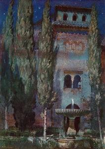 Lindaraja Yard (Night at the Alhambra)