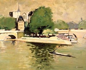 Le Vert Galant Et Le Pont Neuf. París