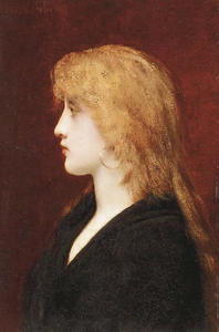 A Young Girl in Profile