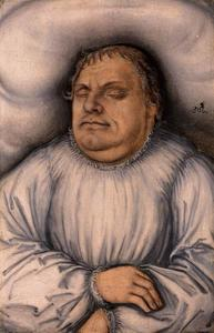 Portrait of Martin Luther on his Deathbed