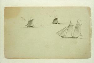 Three Studies of a Two-Master Schooner